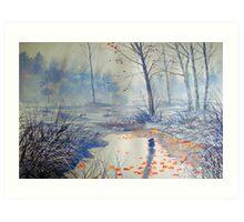 Splash of Colour on Strensall Common Art Print