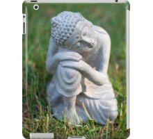 Buddha in the grass iPad Case/Skin
