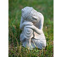 Buddha in the grass Photographic Print