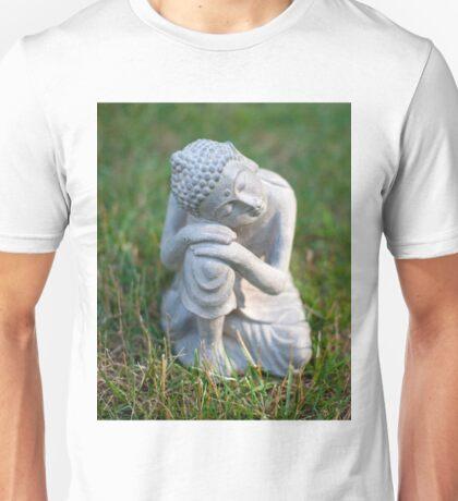Buddha in the grass Unisex T-Shirt