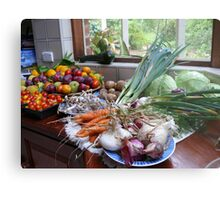 A Country Harvest. Metal Print