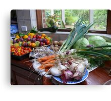 A Country Harvest. Canvas Print