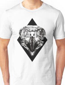 Owl Skull and Dot Work Unisex T-Shirt