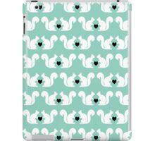 Squirrels pattern print designs minimal mint dots pastel pattern cell phone gift ideas nature iPad Case/Skin