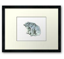 Polar Bear Mother and Cub Framed Print