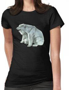 Polar Bear Mother and Cub Womens Fitted T-Shirt