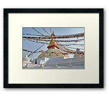 Stupa Stroll Framed Print