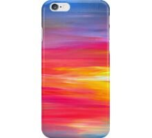 BRIGHT HORIZONS Colorful Rainbow Bold Multicolor Ombre Red Pink Yellow Blue Sunrise Sunset Abstract Painting iPhone Case/Skin