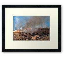 Yucaipa Fire, Crafton Hills, Fact of Life, 042715 Framed Print