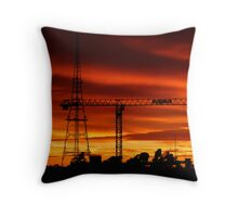 Space Frames Throw Pillow