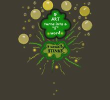 """ART as a """"F"""" word Womens Fitted T-Shirt"""