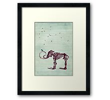 Mammoth and the birds Framed Print