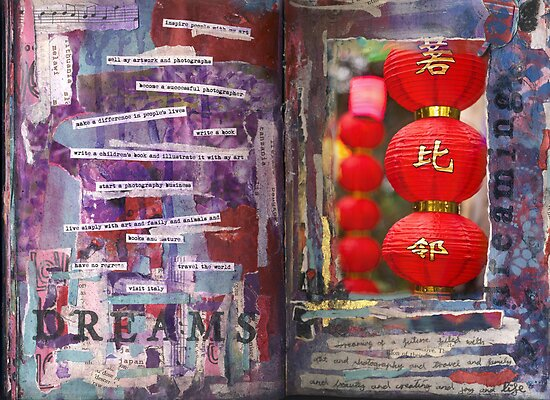 Art Journal - Dreams by Clare Reid