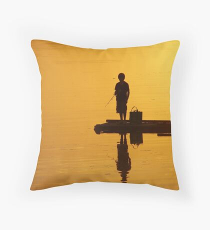 Fishing Solitude Throw Pillow