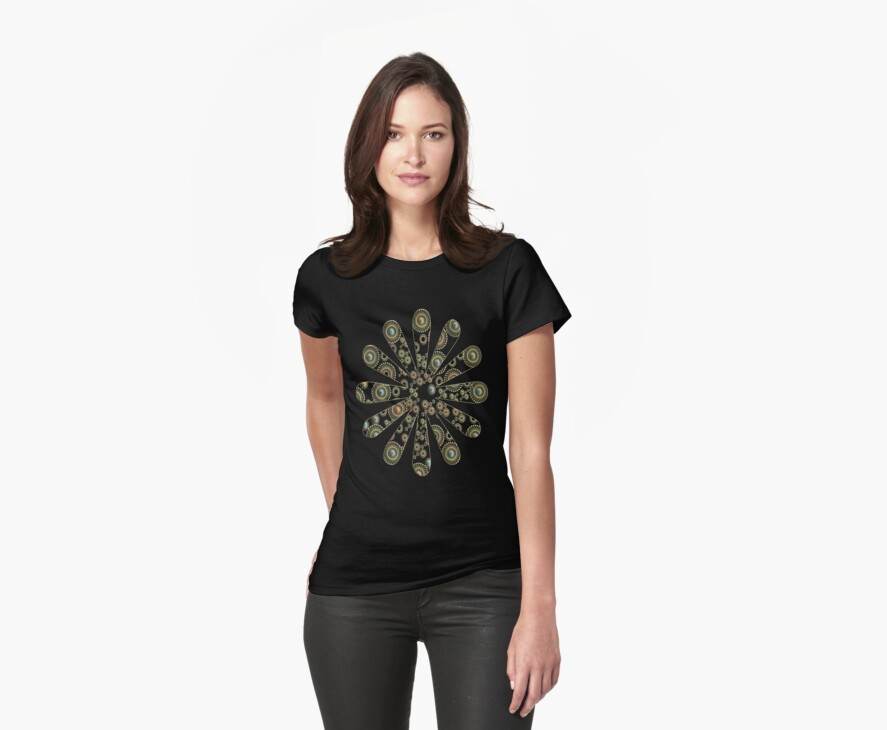 Precious Stones Floral T-Shirt by simpsonvisuals