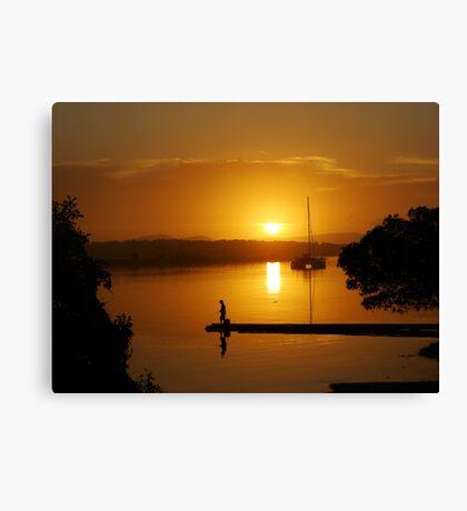 Golden Fishing Paradise Canvas Print