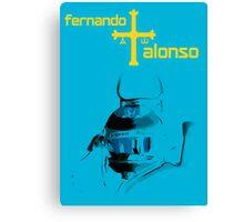 Fernando Alonso Asturia 2015 Canvas Print