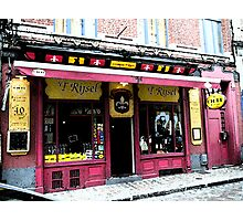 Lille Cafe fresco style Photographic Print