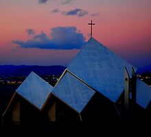 """Temples - """"The City Church of Reykjavik (IS)"""" by Denis Molodkin"""
