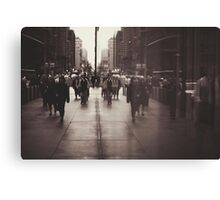 Rush hour, NYC Canvas Print