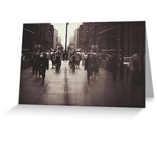 Rush hour, NYC Greeting Card