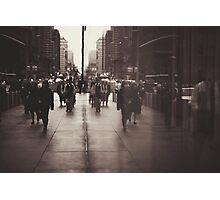 Rush hour, NYC Photographic Print