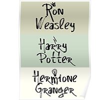 CHARITY PIECE The Golden Trio - Harry Potter Minimalism Poster