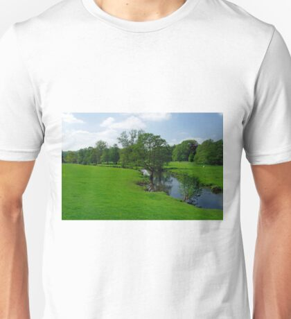 Riverside Meadows, Ashford-in-the-Water  Unisex T-Shirt