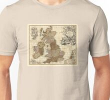 Antique UK Map Unisex T-Shirt