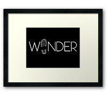 WANDER. Framed Print