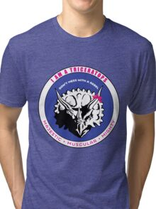 I AM A TRICERATOPS Tri-blend T-Shirt