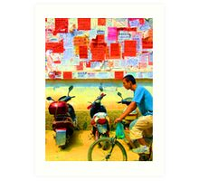 The Saturated Cyclist  Art Print