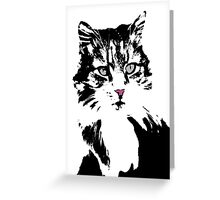Cat Portrait Card Greeting Card