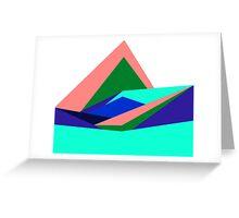 Pink Hills, Generative Art, Data Visualisation Greeting Card