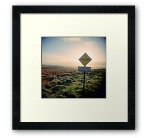 Hidden Dips Framed Print