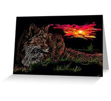 Fox at Sunrise Greeting Card