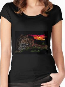 Fox at Sunrise Women's Fitted Scoop T-Shirt