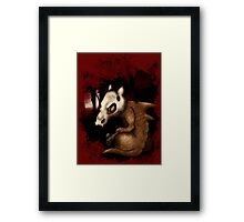Cubone in the woods Framed Print
