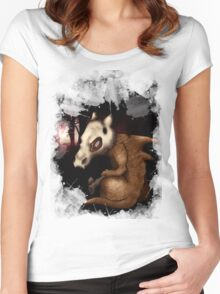 Cubone in the woods Women's Fitted Scoop T-Shirt