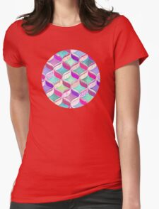 Patchwork Ribbon Ogee Pattern with Pink & Purple T-Shirt