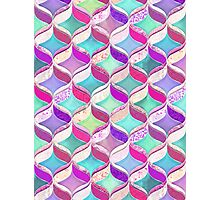 Patchwork Ribbon Ogee Pattern with Pink & Purple Photographic Print