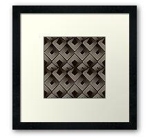 Seamless antique pattern Framed Print