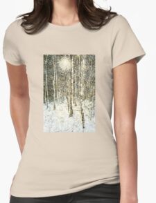 Winter Wood Womens Fitted T-Shirt