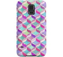 Patchwork Ribbon Ogee Pattern with Pink & Purple Samsung Galaxy Case/Skin