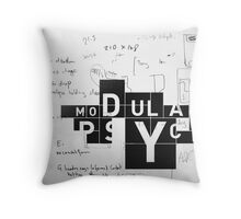 thinking in boxes Throw Pillow