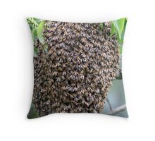 Swarm of Honey Bee's Throw Pillow