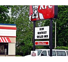 Kentucky Grilled Hick?? Photographic Print