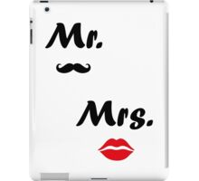 Mr. Mrs. iPad Case/Skin