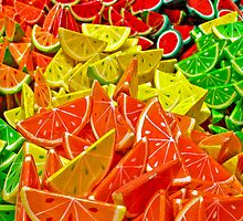 Colorful Papier Mache Fruits by MaluC