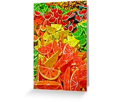 Colorful Papier Mache Fruits Greeting Card
